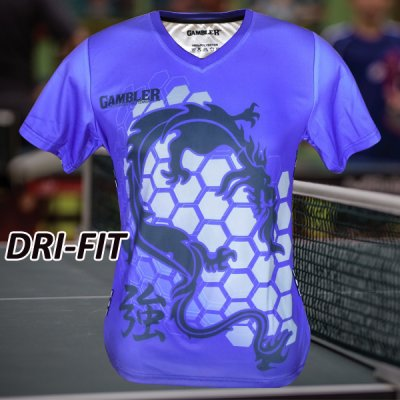 BLUE TECH GAMBLER DRAGON SHIRT