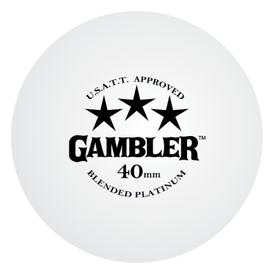 GAMBLER PLATINUM 3 STAR BALLS (36 pack) - WHITE